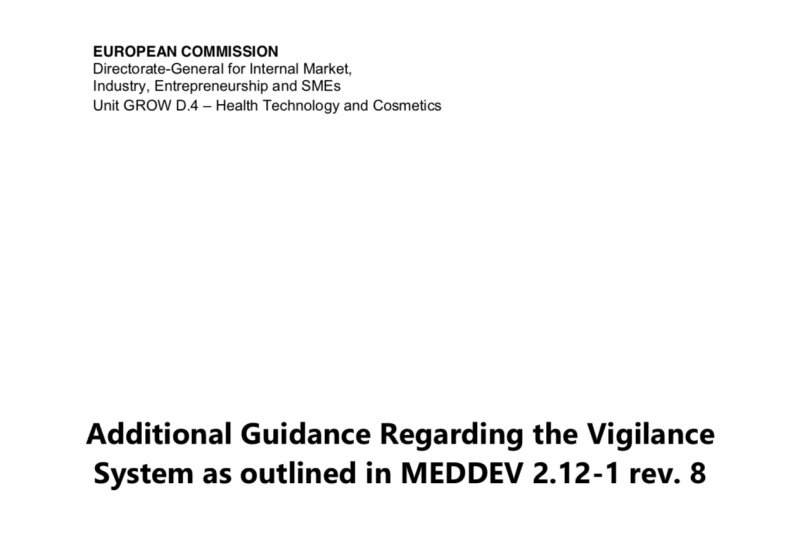 EC Issues Additional Guidance on Device Vigilance System